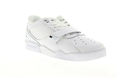 Supra Breaker Low 06577-101-M Mens White Leather Lace Up Low Top Sneakers Shoes