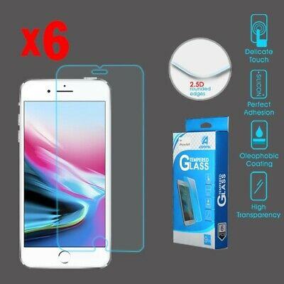 Apple iPhone 876S6 - Tempered Glass Screen Protector6-pack