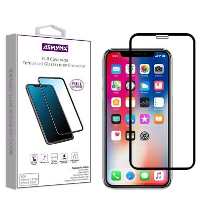 For Apple iPhone XSXApple iPhone 11 Pro Full Coverage Tempered Glass Black