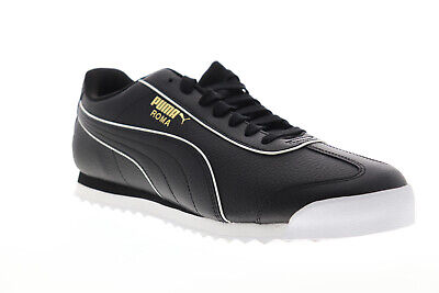 Puma Roma Basic BW 37240102 Mens Black Lace Up Low Top Sneakers Shoes