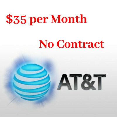 At-t 25GB UNTROTTLED Data Plan 4G LTE 35 per Month Hotspot Device No Contract