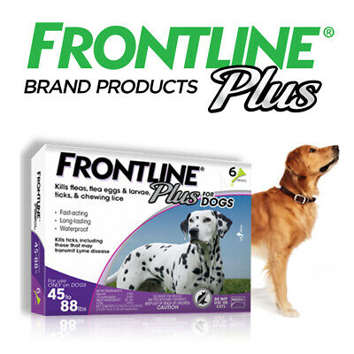 Frontline Plus for Large Dog45-88lbsFlea and Tick Treatment 6-DosesNew Sealed
