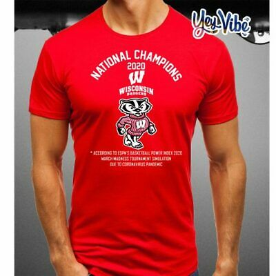 National Champions 2020 Wisconsin Badgers t-shirt
