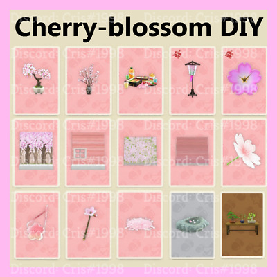 Animal Crossing New Horizons Cherry Blossom Event All 14 Items and DIY - petals