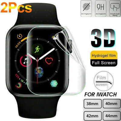 2Pcs Apple iWatch Hydrogel 2 5 For Film Full 4 Screen Watch 3 38-44mm Protector