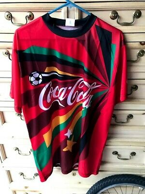 2010 FIFA WORLD CUP South Africa 10 COCA-COLA Coke Soccer X-Large XL Jersey