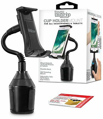 Aduro U-Grip Universal Cell Phones Cup Holder Car Mount Cradle Stand Tablets GPS