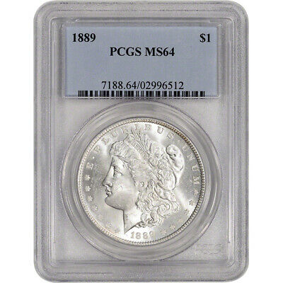 1889 US Morgan Silver Dollar 1 - PCGS MS64