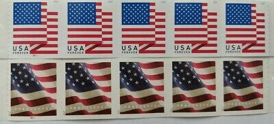 10 USPS Flag First Class Postage Forever Stamps Stamp Design May Vary