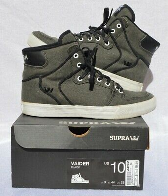 Supra Vaider High Top Sneakers- Size M10 Skateboarding Shoes- Original box