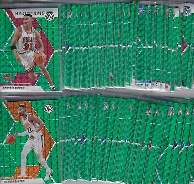 2019-20 19-20 PANINI MOSAIC GREEN PRIZM PARALLELS 1-300 PICK YOUR PLAYER