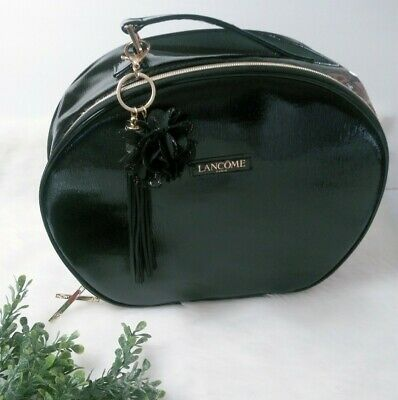 Lancome Large Makeup Bag Cosmetic Case Round Travel Tote Toiletry-