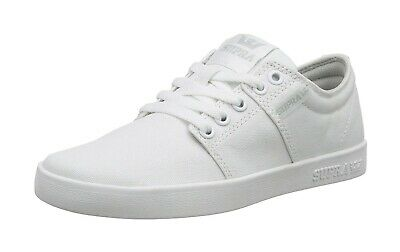 SUPRA Stacks II Canvas Men Low Top Sneakers Shoes Off White