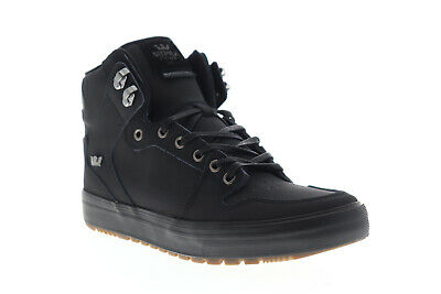 Supra Vaider CW 08043-060-M Mens Black Leather High Top Skate Sneakers Shoes