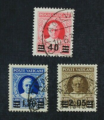 CKStamps Italy Stamps Collection Vatican City Scott35 36 37 Used