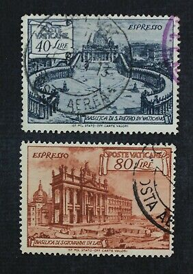 CKStamps Italy Stamps Collection Vatican City ScottE11 E12 Used