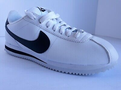 Nike Mens Cortez Basic Leather Running Shoes White Black 819719 100 Low Top 10