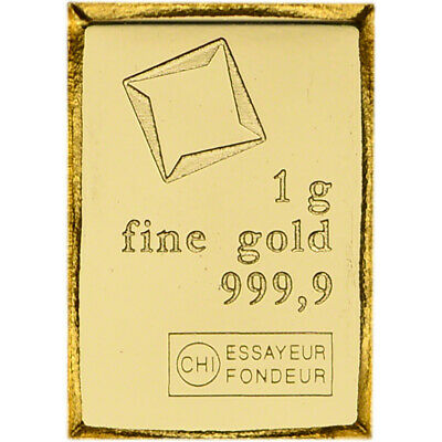 1 gram Gold Bar Valcambi Suisse from Gold CombiBar 999-9 Fine