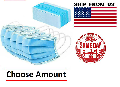 Blue Face Mask Mouth - Nose Protector Masks Filter NEW FREE FAST SHIPPING