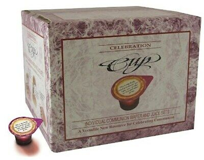 Communion Set Prefilled Celebration Cups Juice Wafer- 100 Sets Lords Supper