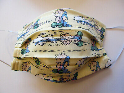 Peanuts Snoopy Linus Face Mask wFilter Pocket Washable Reusable Cotton Adult