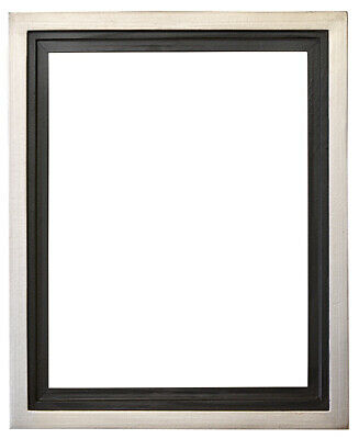 Silver Floater Frame for 34 and 112 deep Canvas