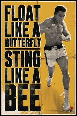 MUHAMMAD ALI - POSTER FLOAT LIKE A BUTTERFLY STING LIKE A BEE 24 x 36