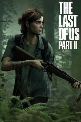 THE LAST OF US PART II - GAMING POSTER ELLIE  GAME COVER - PART 2