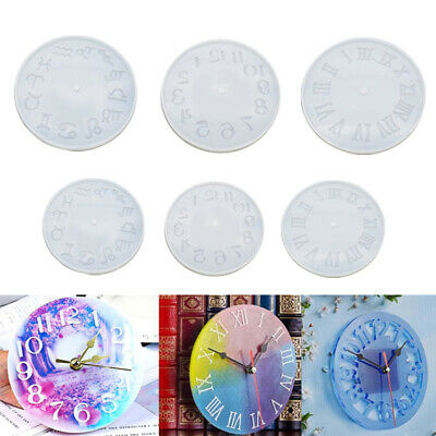Clock Silicone Expoxy Resin Mold Pendant Jewelry Making DIY Mould Craft