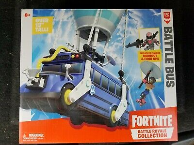 Fortnite Battle Royale Collection Battle Bus and 2 Exclusive Figures Kid Toy