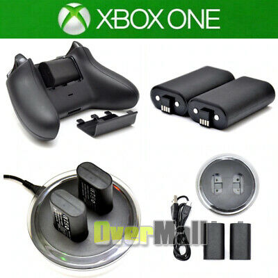 For XBOX ONE Controller Play Charging Dock - 2x Rechargeable Battery Pack
