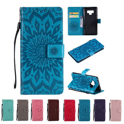 Flower Pattern Wallet Leather Shockproof Case Cover For Samsung Galaxy Note 8 9