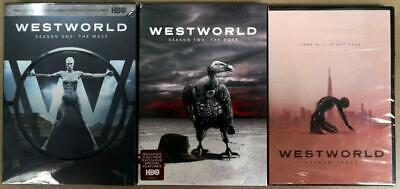 Westworld Season 1-3 1 2 3 DVD 2020 9 DISC Region 1 Brand New Fast shipping