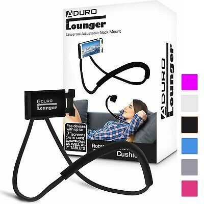 Aduro Lounger Cell Phone Mount Holder for Neck Universal Smartphone Lazy Stand