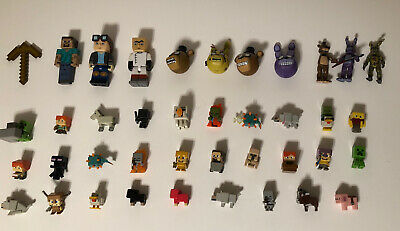 Minecraft Minifigures lot of 43 Minecraft Minifigs Cheap Great Condition FNAF