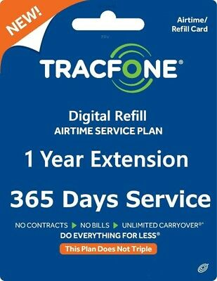 TracFone Service Extension 1 Year365 Days Refill Airtime Plan BYOP