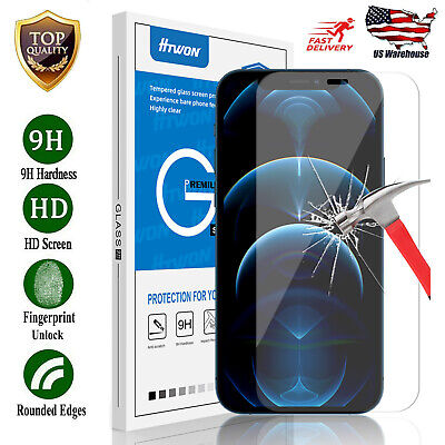 For iPhone 12 Pro Max  11  X  XS  XR  8  7 Tempered Glass Screen Protector