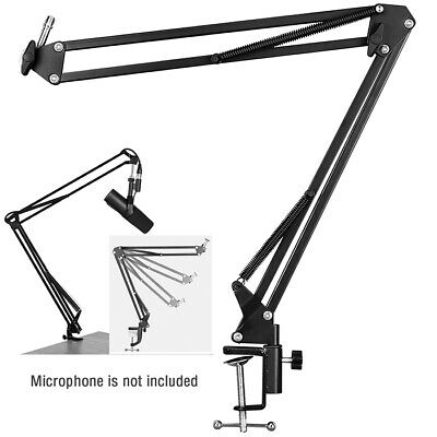 Microphone Stand Adjustable Microphone Suspension Boom Scissor Arm Mic Stand
