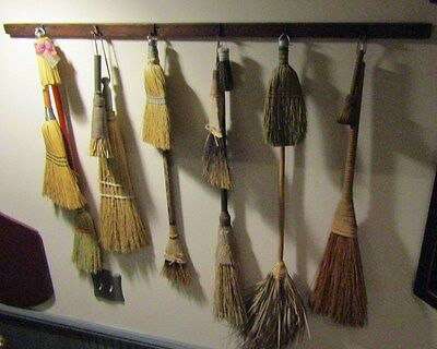 PRIMITIVE DRYING RACK SHAKER STYLE -7 PEGS-40 LONG - NICE FOR DRIEDSBROOMS