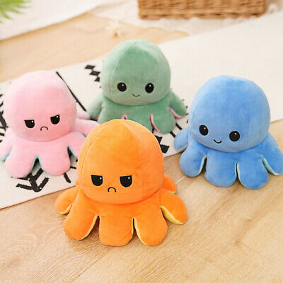Octopus Plush Reversible  Stuffed Doll Pillow Soft Simulation Doll Toys Gifts
