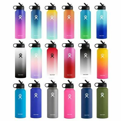 Hydro Flask Stainless Steel Water Bottle Thermos Straw Lid Drinking US Stock