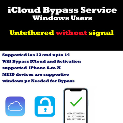 iCloud removal Bypass without Signal iPhone 6 to X - Remote service Windows