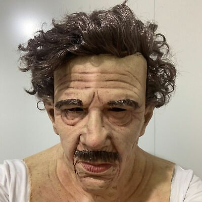 Latex Old Man Mask Male Disguise Cosplay Costume Realistic Novelty Party Props