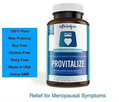PROVITALIZE -Probiotic for Managing Menopause Bloating Hot Flashes Low Energy