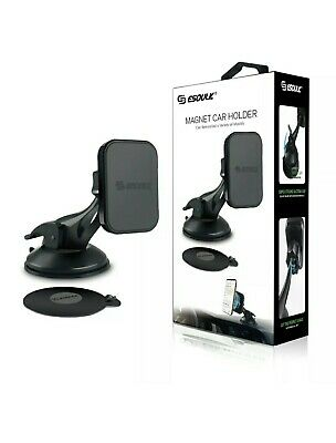 Esoulk Magnetic Car Phone Holder Dashboard Windshield Mount With Dashboard Pad