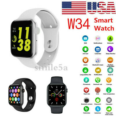 Smart watch Bluetooth Sport Fitness ECG Heart Rate Monitor US for iOS Android
