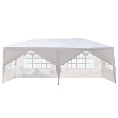 10x2030 Party Canopy Tent Outdoor Gazebo Heavy Duty Pavilion Event White