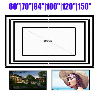 150 Extra Thick HD Projector Screen 169 Home 4K 3D Movie Theater Foldable C8I6