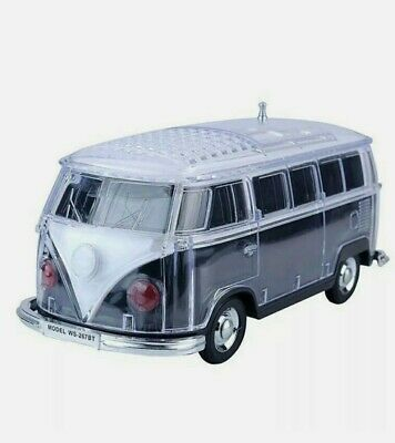 Volkswagen Bus Loud Black Speaker  BT IndoorOutdoor Portable USB PORTAUX INPUT
