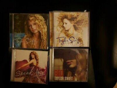 Taylor Swift 4 Cd Lot Fearless Red Self TItled Speak Now